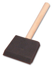 3 inch foam brush with wood handle
