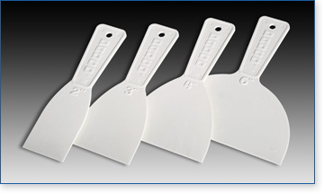 Padco plastic putty knives are available in a variety of sizes